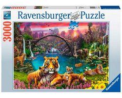 Ravensburger puslespel 3000 Tigrer i paradis 3000 bitar - Ravensburger