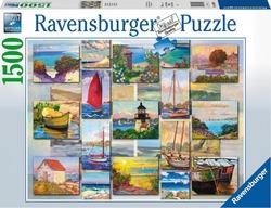 Ravensburger puslespel 1500 Kystcollage 1500 bitar - Ravensburger