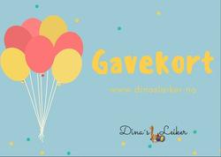 Gavekort Dina's Leiker 1000kr Gavekort 1000kr - Gavekort