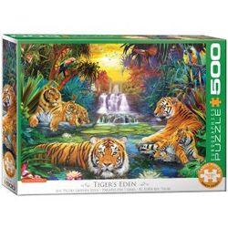 Eurographics puslespel 500 bitar Tigers Eden 500 bitar - Eurographics