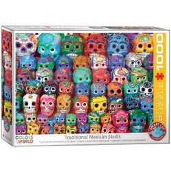 Eurographics puslespel 1000 Traditional Mexican skulls 1000 bitar - Eurographics