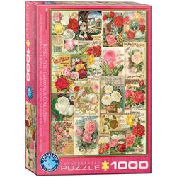 Eurographics puslespel 1000 Rose Seed Catalog Covers 1000 bitar - Eurographics