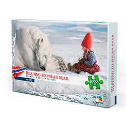 Nordic quality puzzle puslespel 1000 Reading to polar bear 1000 bitar - Nordic quality puzzle