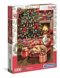 Clementoni puslespel 1000 Christmas by the fire 1000 bitar - Clementoni