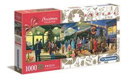 Clementoni puslespel 1000 Christmas Santa Express 1000 bitar - Clementoni