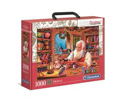 Clementoni puslespel 1000 Santa Workshop 1000 bitar - Clementoni