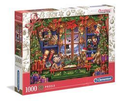 Clementoni puslespel 1000 Ye old christmas shoppe 1000 bitar - Clementoni