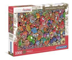 Clementoni puslespel 1000 Impossible puzzle Jolly Christmas 1000 bitar - Clementoni