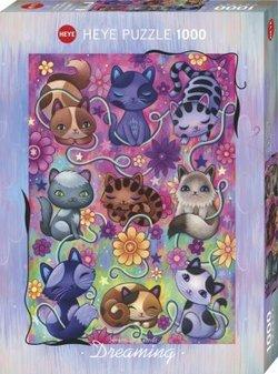 Heye puslespel 1000 Art Dreaming Kitty Cats 1000 bitar - Heye