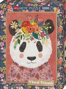 Heye puslespel 1000 Art Floral Friends Cuddly Panda  1000 bitar - Heye