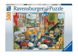 Ravensburger puslespel 500 Musikkrommet 500 bitar - Ravensburger