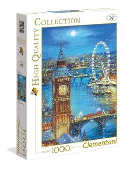 Clementoni puslespel 1000 Snow flakes on Big Ben 1000 bitar - Clementoni