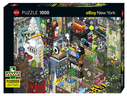 Heye puslespel 1000 Cartoon Quest New York 1000 bitar - Heye