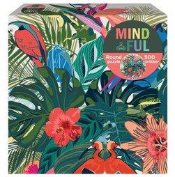 1Conzept puslespel 500 Mindful Flowers and Birds , rund 500 bitar - 1conzept