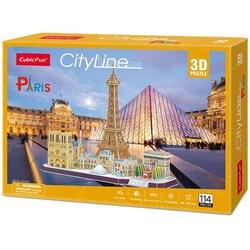 3D puslespel 114bitar City Line Paris 114 bitar - 3d puslespill