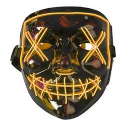 Oransj Led maske Oransj led lys - Halloween