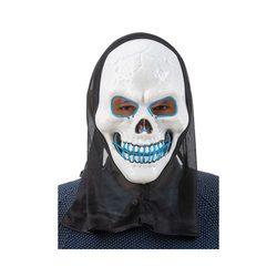 LED maske skjeletthode  Blå led - Halloween