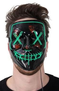 Grøn led maske Grøn led - Halloween