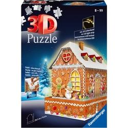 Ravensburger 3D puslespel Pepperkakehus 216 bitar Pepperkakehus - Ravensburger