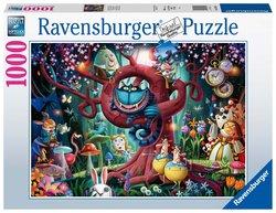 Ravensburger puslespel 1000 Cheshirekattem, Alice in Wonderland 1000 bitar - Ravensburger