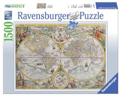 Ravensburger puslespel 1500 Politisk Verdenskart 1500 bitar - Ravensburger