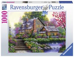 Ravensburger puslespel 1000 Romantisk hytte 1000 biter - Ravensburger