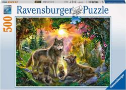 Ravensburger puslespel 500 Ulvefamilie 500 bitar - Ravensburger